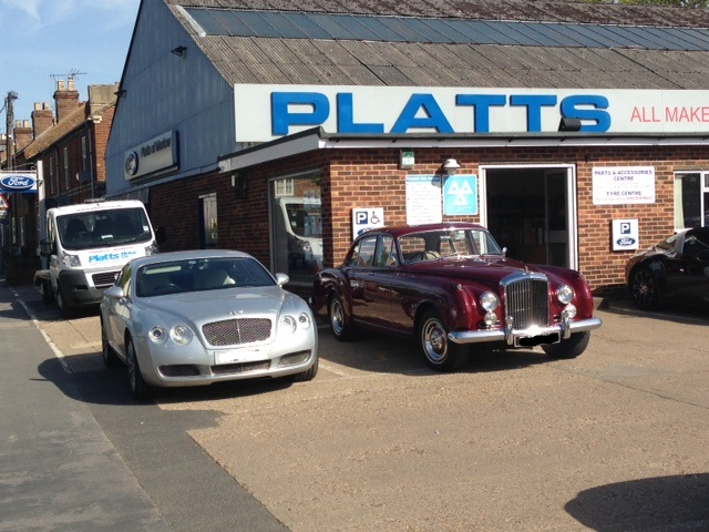 A pair of Bentleys